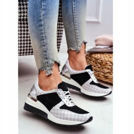 Obuwie Sportowe Sneakersy Damskie Skórzane Nicole 2468 Besty białe czarne 1