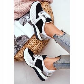 Obuwie Sportowe Sneakersy Damskie Skórzane Nicole 2468 Besty białe czarne 6