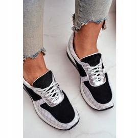Obuwie Sportowe Sneakersy Damskie Skórzane Nicole 2468 Besty białe czarne 5