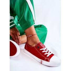 Damskie Trampki Big Star Czerwone FF274089 3