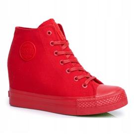 Sneakersy Damskie Big Star Czerwone FF274A193 5