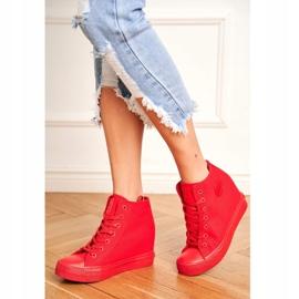 Sneakersy Damskie Big Star Czerwone FF274A193 1