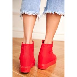 Sneakersy Damskie Big Star Czerwone FF274A193 2