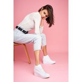Sneakersy Damskie Big Star Białe FF274A192 2