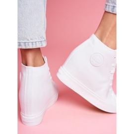 Sneakersy Damskie Big Star Białe FF274A192 5