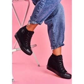 Sneakersy Damskie Big Star Czarne FF274A191 2