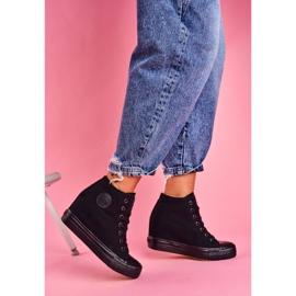 Sneakersy Damskie Big Star Czarne FF274A191 4
