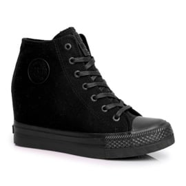 Sneakersy Damskie Big Star Czarne FF274A191 1