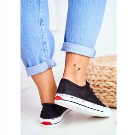 Trampki Damskie Cross Jeans Czarne Siateczka FF2R4015C 4