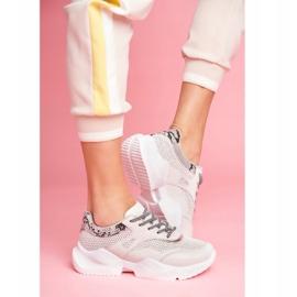 SEA Sportowe Damskie Buty Wężowe Szare Giselle 3