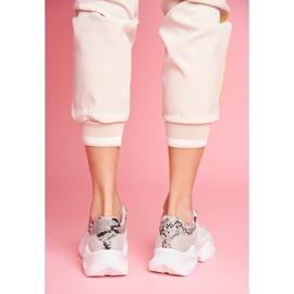 SEA Sportowe Damskie Buty Wężowe Szare Giselle 1