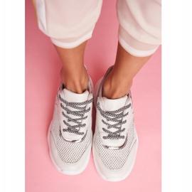 PS1 Sportowe Damskie Buty Wężowe Szare Giselle 2