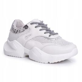 SEA Sportowe Damskie Buty Wężowe Szare Giselle 4