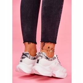 SEA Sportowe Damskie Buty Wężowe Białe Giselle 4