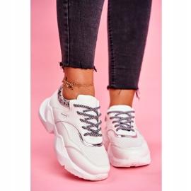 SEA Sportowe Damskie Buty Wężowe Białe Giselle 3