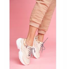 SEA Sportowe Damskie Buty Wężowe Beżowe Giselle beżowy 4