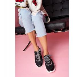 SEA Sportowe Damskie Buty Wężowe Czarne Giselle 4