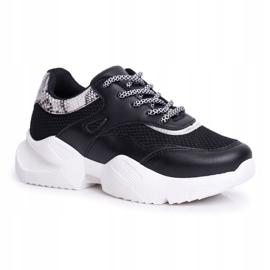 SEA Sportowe Damskie Buty Wężowe Czarne Giselle 5