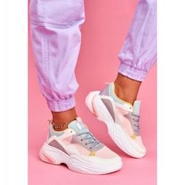 SEA Sportowe Damskie Buty Kolorowe Różowe Pinner 2