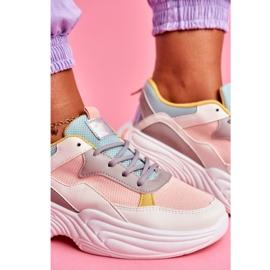 SEA Sportowe Damskie Buty Kolorowe Różowe Pinner 5