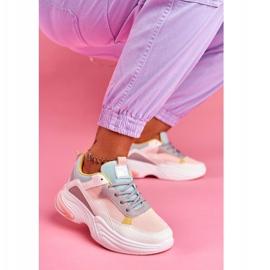 SEA Sportowe Damskie Buty Kolorowe Różowe Pinner 4