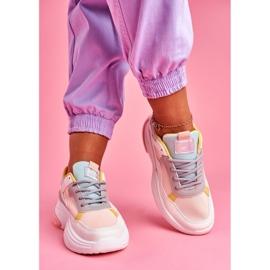 PS1 Sportowe Damskie Buty Kolorowe Różowe Pinner białe wielokolorowe 6