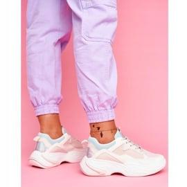 PS1 Sportowe Damskie Buty Kolorowe Beżowe Pinner białe brązowe wielokolorowe 4