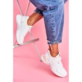 BUGO Sportowe Damskie Buty Różowo Białe Fellen 2