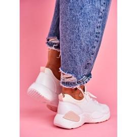 BUGO Sportowe Damskie Buty Różowo Białe Fellen 4