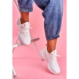 BUGO Sportowe Damskie Buty Różowo Białe Fellen 1