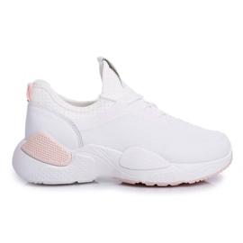 BUGO Sportowe Damskie Buty Różowo Białe Fellen 3