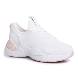 BUGO Sportowe Damskie Buty Różowo Białe Fellen 5