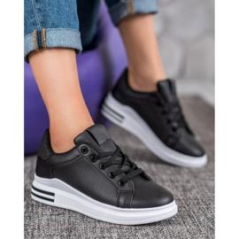 Weide Sneakersy Z Eko Skóry czarne 4