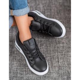 Weide Sneakersy Z Eko Skóry czarne 2