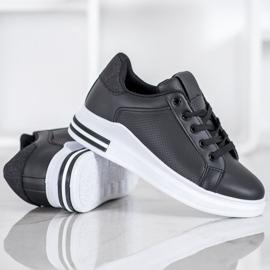 Weide Sneakersy Z Eko Skóry czarne 3