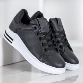 Weide Sneakersy Z Eko Skóry czarne 1