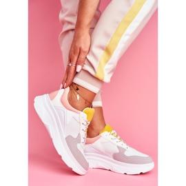 BUGO Sportowe Damskie Buty Różowo Białe Fresno 5