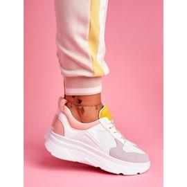 BUGO Sportowe Damskie Buty Różowo Białe Fresno 2