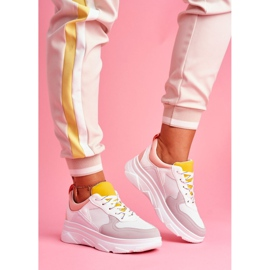 BUGO Sportowe Damskie Buty Różowo Białe Fresno 1