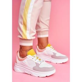 BUGO Sportowe Damskie Buty Różowo Białe Fresno 4