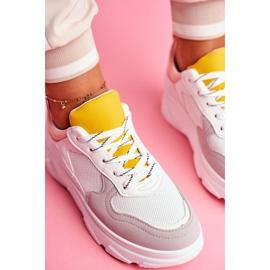 BUGO Sportowe Damskie Buty Różowo Białe Fresno 6