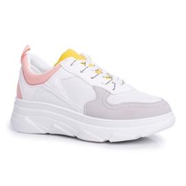 BUGO Sportowe Damskie Buty Różowo Białe Fresno 3