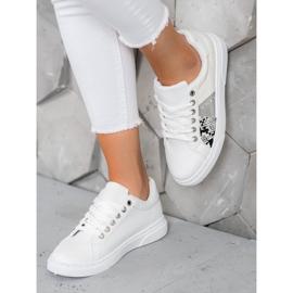 SHELOVET Wygodne Białe Sneakersy 5
