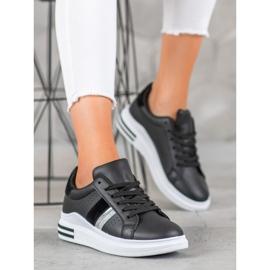 SHELOVET Stylowe Sneakersy czarne 1