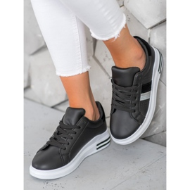 SHELOVET Stylowe Sneakersy czarne 4
