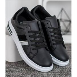 SHELOVET Stylowe Sneakersy czarne 2