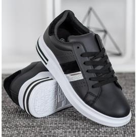 SHELOVET Stylowe Sneakersy czarne 3