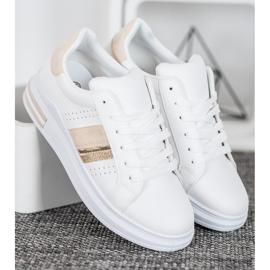 SHELOVET Stylowe Sneakersy białe 3