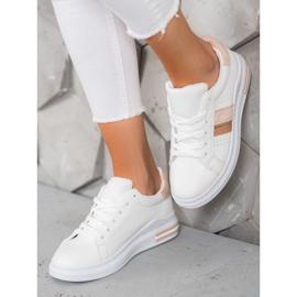 SHELOVET Stylowe Sneakersy białe 4