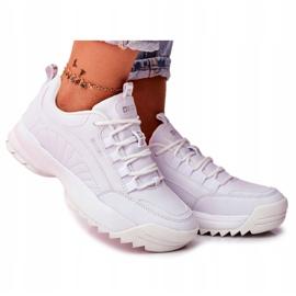 Damskie Sportowe Obuwie Sneakersy Big Star Białe FF274681 5